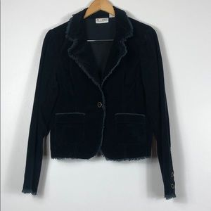 At Last Corduroy Blazer Black L